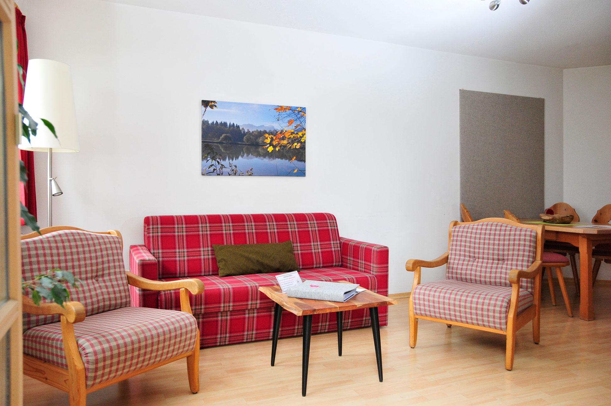 Wohnbereich Ferienwohnung Sulzberg