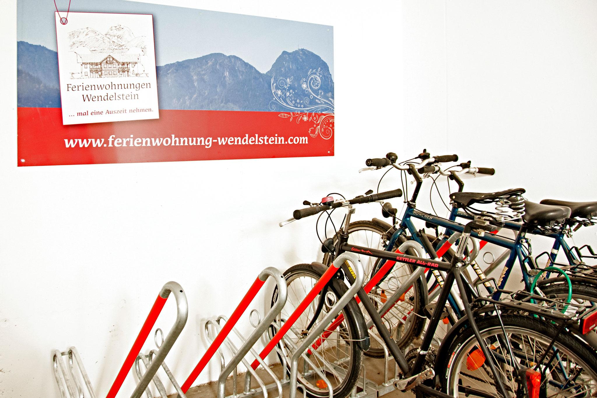 Fahrrad-Garage der Ferienwohnungen Wendelstein